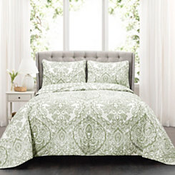 Abbott Sage 3-pc. Full/Queen Quilt Set