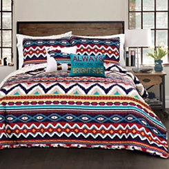 Bekka Geometric 5-pc. Full/Queen Quilt Set