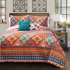Bentley Turquoise Queen 5 Piece Quilt Set