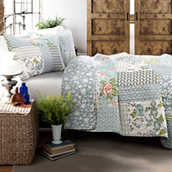 Blue Raina 3-pc. King Quilt Set