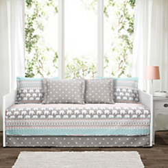 Elephant Stripe 6-pc. Daybed Set