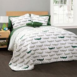 Alligator Queen 4 Piece Quilt Set