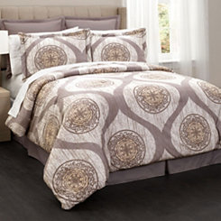Taupe Myra 6-pc. Queen Comforter Set