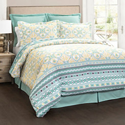 Turquoise Carly 6-pc. Queen Comforter Set