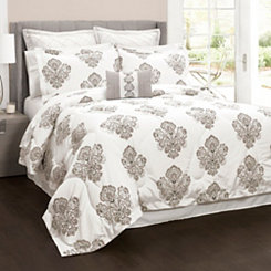 Beige Lizzy 6-pc. King Comforter Set