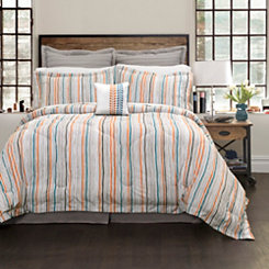 Amelia Stripe 6-pc. Full/Queen Comforter Set