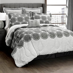 Textured Circle 6-pc. Full/Queen Comforter Set