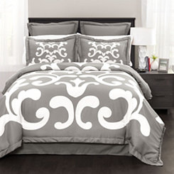 Lavish Damask 6-pc. Queen Comforter Set