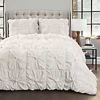 White Baylee 3-pc. King Comforter Set