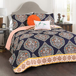 Navy Halsey 5-pc. Full/Queen Quilt Set
