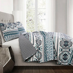 Nellie Stripe 3-pc Full/Queen Quilt Set