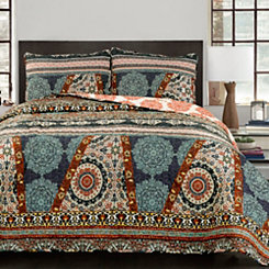 Global Medallion 3-pc. Full/Queen Quilt Set