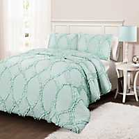 Light Aqua Abba 2-pc. Twin Comforter Set