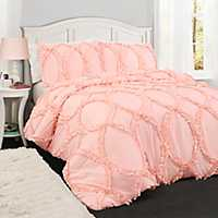 Light Pink Abba 3-pc. Full/Queen Comforter Set