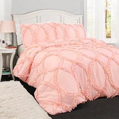 Light Pink Abba 3-pc. Full/Queen Comforter Set