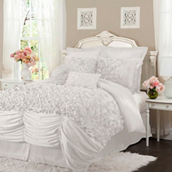 White Lacee 4-pc. King Comforter Set