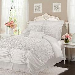 White Lacee 4-pc. King Comforter Set