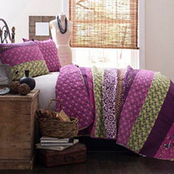 Royal Majesty Plum King 3 Piece Quilt Set