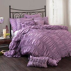 Lynn Purple Queen 3 Piece Comforter Set