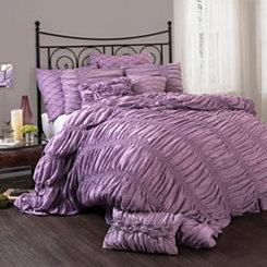 Lynn Purple Queen 3 Piece Comforter Set