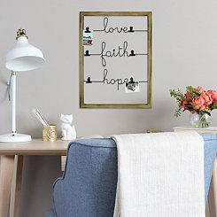 Love, Faith, and Hope Clip Collage Frame