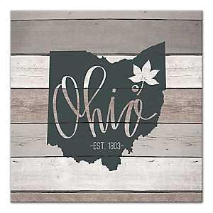 Ohio Shiplap Canvas Art Print