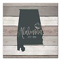 Alabama Shiplap Canvas Art Print