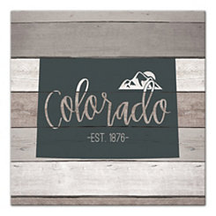 Colorado Shiplap Canvas Art Print