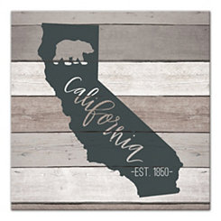 California Shiplap Canvas Art Print