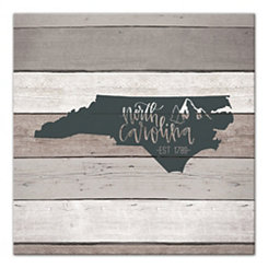 North Carolina Shiplap Canvas Art Print