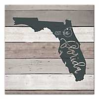 Florida Shiplap Canvas Art Print