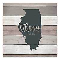 Illinois Shiplap Canvas Art Print