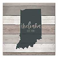 Indiana Shiplap Canvas Art Print
