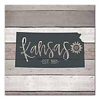Kansas Shiplap Canvas Art Print