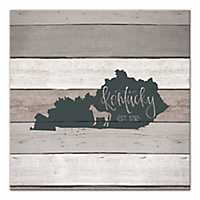 Kentucky Shiplap Canvas Art Print