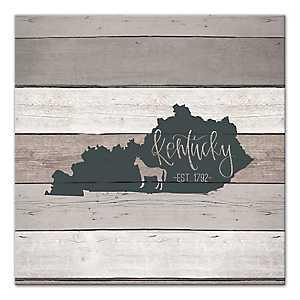 Kentucky Shiplap Canvas Art Print