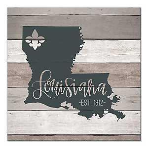 Louisiana Shiplap Canvas Art Print