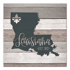 Louisiana Shiplap Canvas Art Print