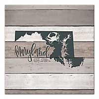 Maryland Shiplap Canvas Art Print
