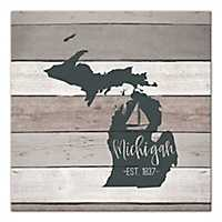 Michigan Shiplap Canvas Art Print