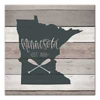 Minnesota Shiplap Canvas Art Print