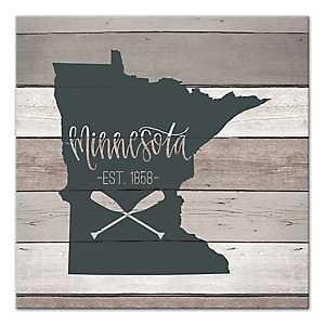 Minnesota Shiplap Canvas Art Print