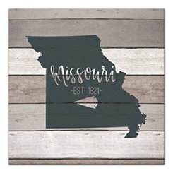 Missouri Shiplap Canvas Art Print