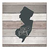 New Jersey Shiplap Canvas Art Print