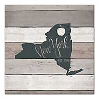 New York Shiplap Canvas Art Print