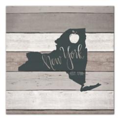 New York Shiplap Canvas Art Print