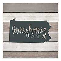 Pennsylvania Shiplap Canvas Art Print