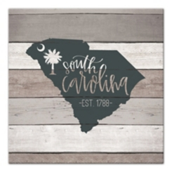 South Carolina Shiplap Canvas Art Print