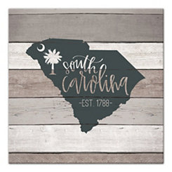 South Carolina Shiplap Canvas Art Print