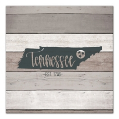 Tennessee Shiplap Canvas Art Print